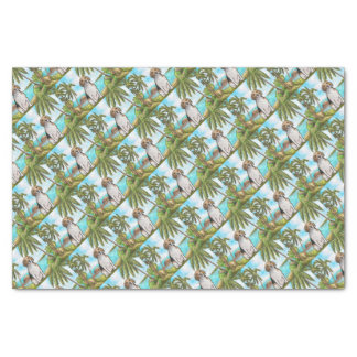 Beagle on Vacation Tropical Beach Tissue Paper