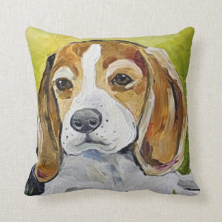 beagle painting pillow