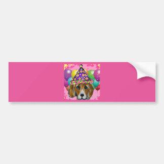 Beagle Party Dog Bumper Sticker