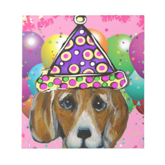 Beagle Party Dog Notepad