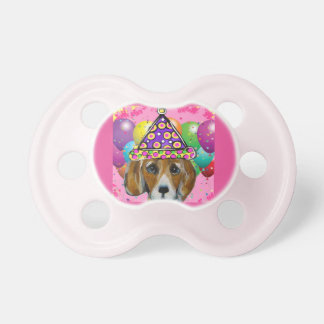 Beagle Party Dog Pacifier