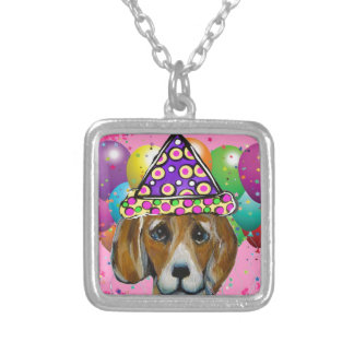 Beagle Party Dog Silver Plated Necklace
