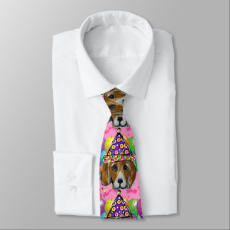 Beagle Party Dog Tie