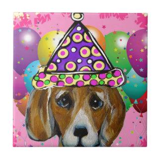 Beagle Party Dog Tile