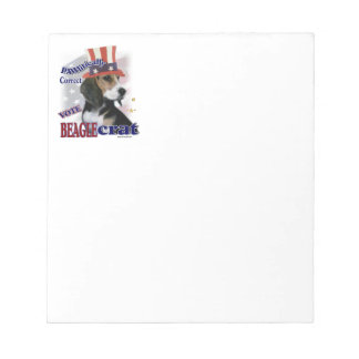 Beagle Political Humor Notepads
