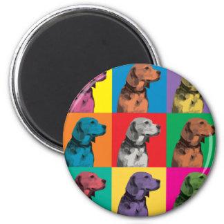 Beagle Pop-Art Magnet