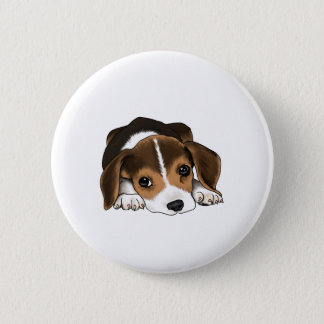 Beagle Puppy 2 Inch Round Button
