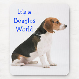 Beagle Puppy Dog Blue Love  - Beagles World Mouse Pad