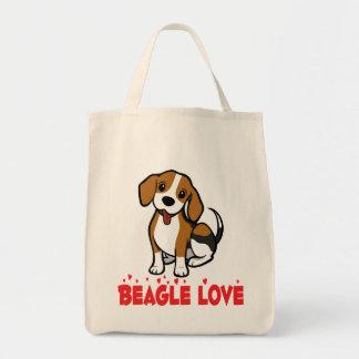 Beagle Puppy Dog Cartoon Love Beagles Tote Bag