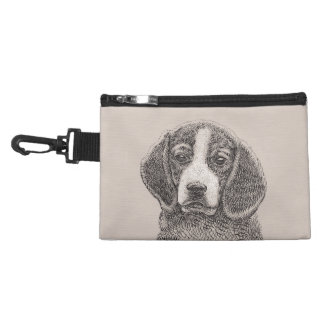 Beagle puppy dog clip on travel bag accessories bags