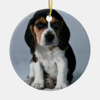 Beagle Puppy Dog Photo Ceramic Ornament