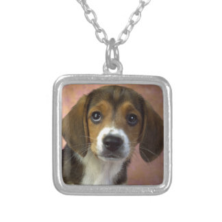 Beagle Puppy Dog Silver Plated Necklace