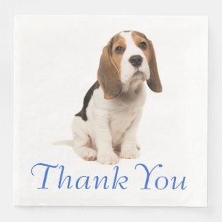 Beagle Puppy Dog Wedding Party Thank You Disposable Napkin