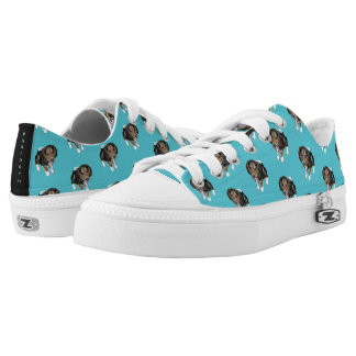 Beagle Puppy #GOFORTH Turquoise Low-Top Sneakers