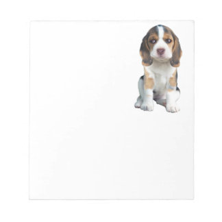 Beagle Puppy Portrait gifts Notepad
