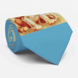 beagle puppy print tie