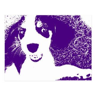 beagle purple postcard