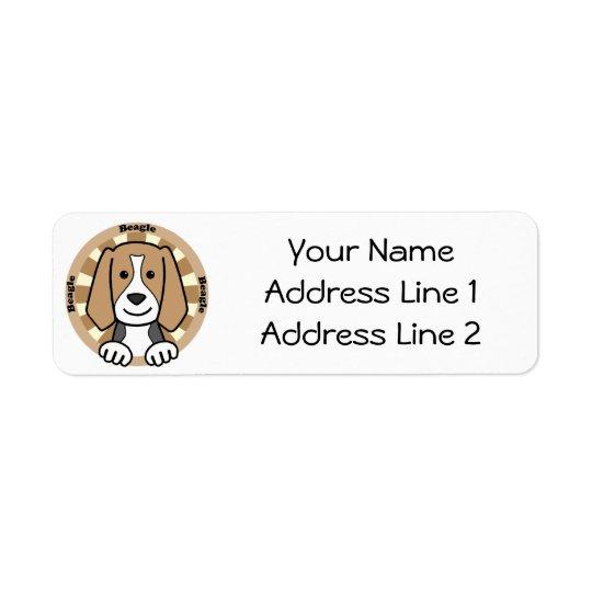 Beagle Return Address Label