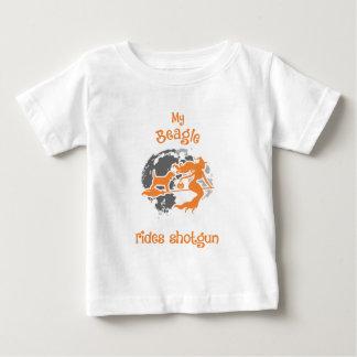 Beagle Rides Shotgun Halloween Costume Baby T-Shirt