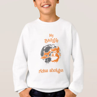 Beagle Rides Shotgun Halloween Costume Sweatshirt