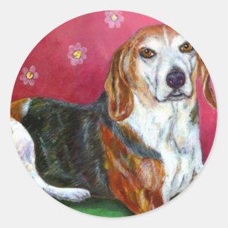 Beagle Round Sticker