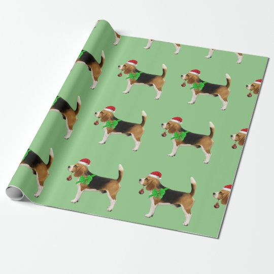 Beagle Santa Christmas Gift Wrapping Paper