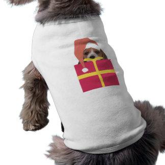 Beagle Santa Hat Gift Box Shirt