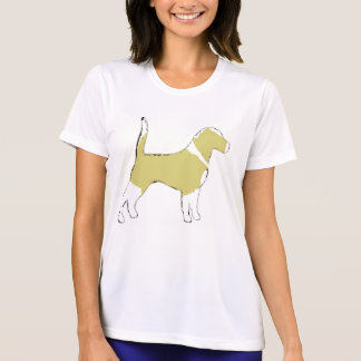 Beagle silhouette lemon white T-Shirt