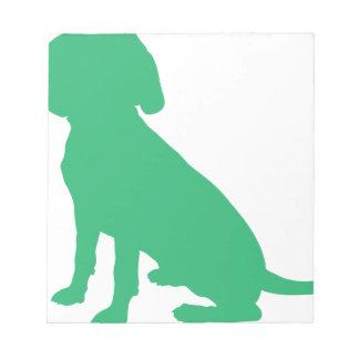 Beagle Silhouette Notepad