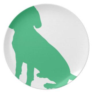 Beagle Silhouette Plate