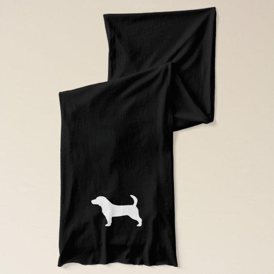 Beagle Silhouette Scarf Wraps