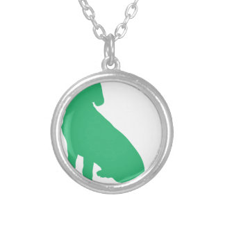 Beagle Silhouette Silver Plated Necklace