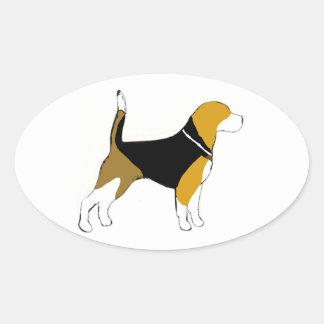 beagle silhouette    sticker