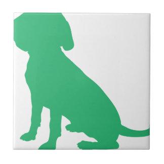 Beagle Silhouette Tile