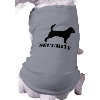 Beagle Silhouette with Custom Text Pet Clothes