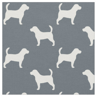 Beagle Silhouettes Pattern Fabric