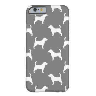 Beagle Silhouettes Pattern Grey Barely There iPhone 6 Case