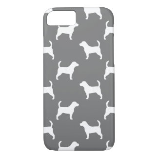 Beagle Silhouettes Pattern Grey iPhone 7 Case