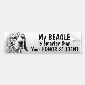 Beagle - Smarter than honor student - funny Bumper Sticker