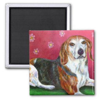 Beagle Square Magnet