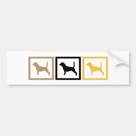 Beagle Squares Bumper Sticker