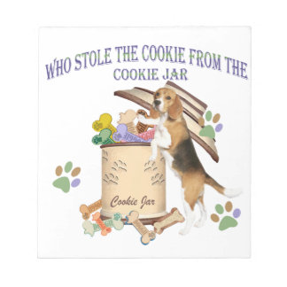 Beagle Stole The Cookie From The Cookie Jar Notepad
