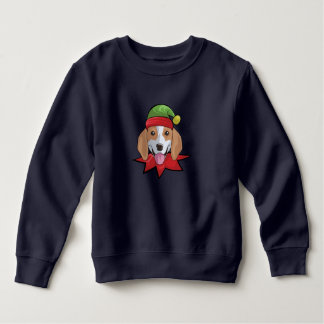 Beagle Sweatshirt Funny Elf Christmas Gift Shirt