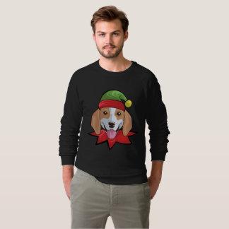 Beagle Sweatshirt Funny Elf Christmas Gift Shirt
