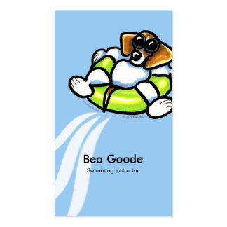 Beagle Swimming Pet Spa Business Cards