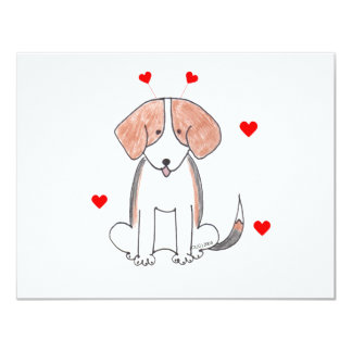 Beagle Valentine Ears Card