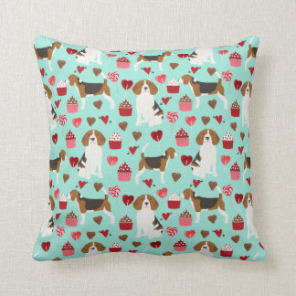 Beagle Valentines Dog pillow - cute dogs pillow