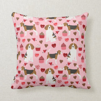 Beagle Valentines Love pillow - cute valentines