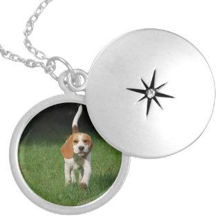 beagle walking.png locket necklace
