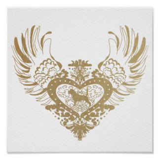 Beagle Winged Heart Poster